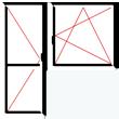 Balkónová sestava s jednokřídlým oknem